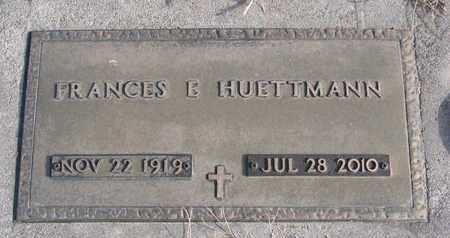 HUETTMANN, FRANCES E. - Cuming County, Nebraska   FRANCES E. HUETTMANN - Nebraska Gravestone Photos