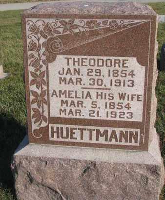 HUETTMANN, AMELIA - Cuming County, Nebraska | AMELIA HUETTMANN - Nebraska Gravestone Photos