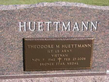 HUETTMANN, THEODORE M. (MILITARY MARKER) - Cuming County, Nebraska | THEODORE M. (MILITARY MARKER) HUETTMANN - Nebraska Gravestone Photos
