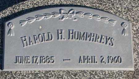 HUMPHREYS, HAROLD H. - Cuming County, Nebraska | HAROLD H. HUMPHREYS - Nebraska Gravestone Photos