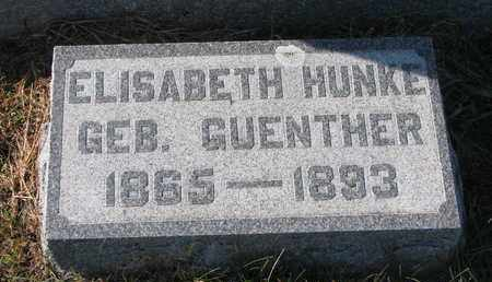 GUENTHER HUNKE, ELISABETH #1 - Cuming County, Nebraska | ELISABETH #1 GUENTHER HUNKE - Nebraska Gravestone Photos