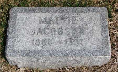 JACOBSEN, MATTIE - Cuming County, Nebraska | MATTIE JACOBSEN - Nebraska Gravestone Photos
