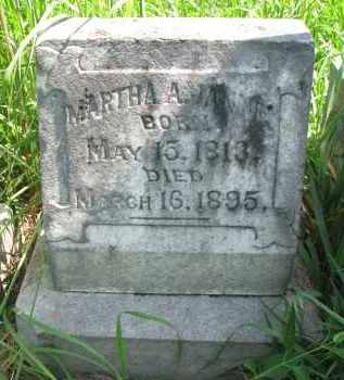 JANNEY, MARTHA A. - Cuming County, Nebraska   MARTHA A. JANNEY - Nebraska Gravestone Photos