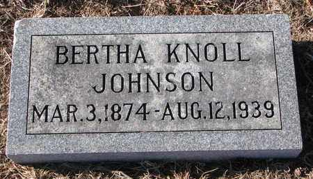 JOHNSON, BERTHA - Cuming County, Nebraska | BERTHA JOHNSON - Nebraska Gravestone Photos