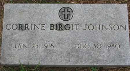 JOHNSON, CORRINE BIRGIT - Cuming County, Nebraska | CORRINE BIRGIT JOHNSON - Nebraska Gravestone Photos