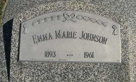 JOHNSON, EMMA MARIE (CLOSE UP) - Cuming County, Nebraska   EMMA MARIE (CLOSE UP) JOHNSON - Nebraska Gravestone Photos
