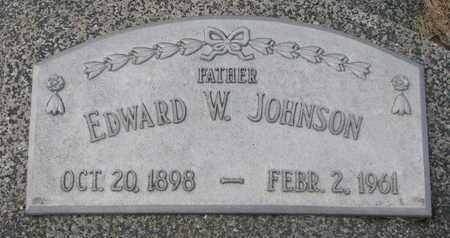 JOHNSON, EDWARD W. - Cuming County, Nebraska | EDWARD W. JOHNSON - Nebraska Gravestone Photos