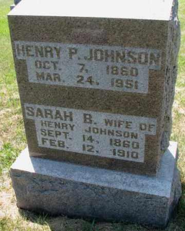 JOHNSON, HENRY P. - Cuming County, Nebraska | HENRY P. JOHNSON - Nebraska Gravestone Photos