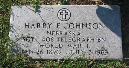 JOHNSON, HARRY F. - Cuming County, Nebraska | HARRY F. JOHNSON - Nebraska Gravestone Photos