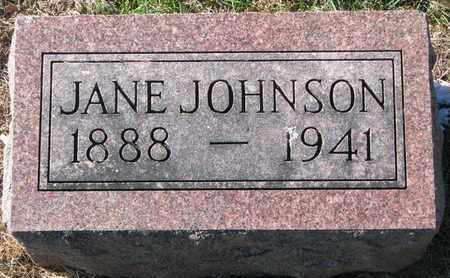 JOHNSON, JANE - Cuming County, Nebraska | JANE JOHNSON - Nebraska Gravestone Photos