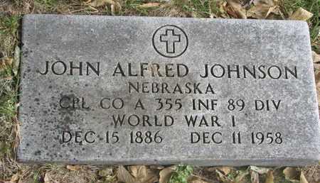 JOHNSON, JOHN ALFRED - Cuming County, Nebraska | JOHN ALFRED JOHNSON - Nebraska Gravestone Photos