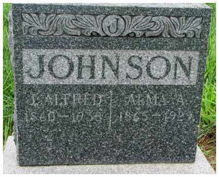 JOHNSON, ALMA A. - Cuming County, Nebraska | ALMA A. JOHNSON - Nebraska Gravestone Photos