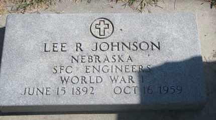 JOHNSON, LEE R. - Cuming County, Nebraska   LEE R. JOHNSON - Nebraska Gravestone Photos