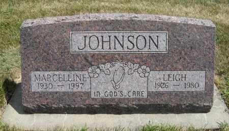 JOHNSON, LEIGH - Cuming County, Nebraska | LEIGH JOHNSON - Nebraska Gravestone Photos