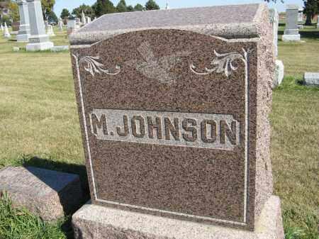 JOHNSON, M. (MONUMENT) - Cuming County, Nebraska | M. (MONUMENT) JOHNSON - Nebraska Gravestone Photos
