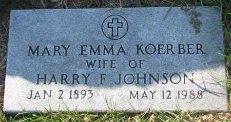 JOHNSON, MARY EMMA - Cuming County, Nebraska | MARY EMMA JOHNSON - Nebraska Gravestone Photos