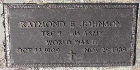 JOHNSON, RAYMOND E. (WW II) - Cuming County, Nebraska | RAYMOND E. (WW II) JOHNSON - Nebraska Gravestone Photos