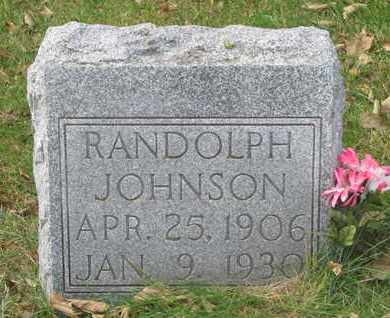 JOHNSON, RANDOLPH - Cuming County, Nebraska | RANDOLPH JOHNSON - Nebraska Gravestone Photos