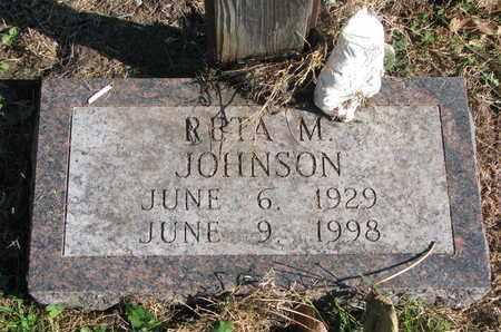 JOHNSON, RETA M. (CLOSE UP) - Cuming County, Nebraska | RETA M. (CLOSE UP) JOHNSON - Nebraska Gravestone Photos