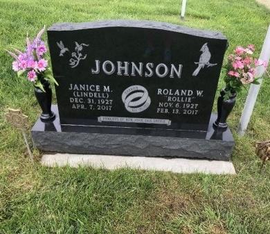 JOHNSON, ROLAND (ROLLIE) W - Cuming County, Nebraska   ROLAND (ROLLIE) W JOHNSON - Nebraska Gravestone Photos