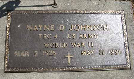JOHNSON, WAYNE D. (MILITARY MARKER) - Cuming County, Nebraska | WAYNE D. (MILITARY MARKER) JOHNSON - Nebraska Gravestone Photos