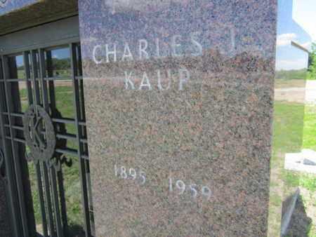 KAUP, CHARLES J. (CLOSE UP) - Cuming County, Nebraska | CHARLES J. (CLOSE UP) KAUP - Nebraska Gravestone Photos