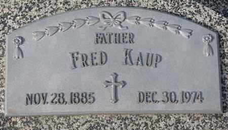 KAUP, FRED - Cuming County, Nebraska | FRED KAUP - Nebraska Gravestone Photos