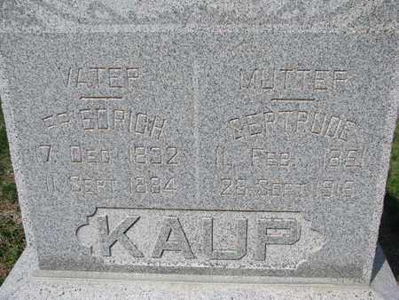 KAUP, GERTRUDE (CLOSE UP) - Cuming County, Nebraska | GERTRUDE (CLOSE UP) KAUP - Nebraska Gravestone Photos