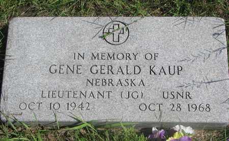 KAUP, GENE GERALD - Cuming County, Nebraska | GENE GERALD KAUP - Nebraska Gravestone Photos