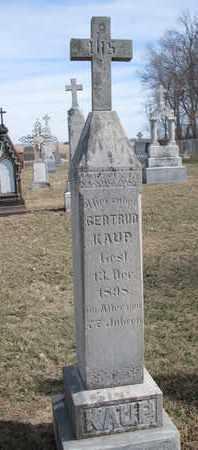 KAUP, GERTRUD - Cuming County, Nebraska | GERTRUD KAUP - Nebraska Gravestone Photos