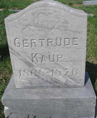 KAUP, GERTRUDE - Cuming County, Nebraska | GERTRUDE KAUP - Nebraska Gravestone Photos