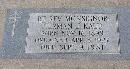 KAUP, HERMAN J. (MONSIGNOR) - Cuming County, Nebraska | HERMAN J. (MONSIGNOR) KAUP - Nebraska Gravestone Photos