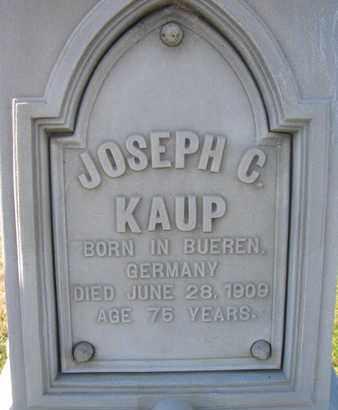 KAUP, JOSEPH C. (CLOSE UP) - Cuming County, Nebraska | JOSEPH C. (CLOSE UP) KAUP - Nebraska Gravestone Photos