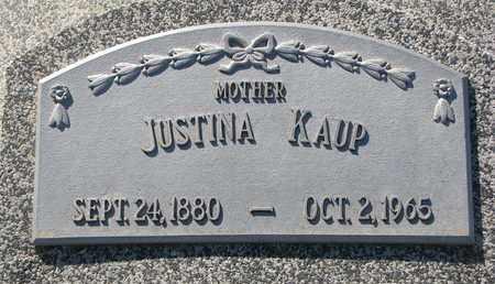 KAUP, JUSTINA - Cuming County, Nebraska | JUSTINA KAUP - Nebraska Gravestone Photos