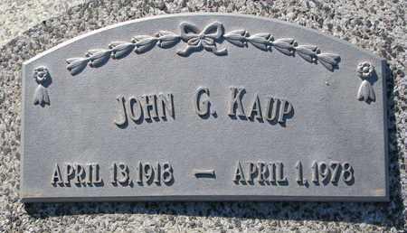 KAUP, JOHN G. - Cuming County, Nebraska | JOHN G. KAUP - Nebraska Gravestone Photos