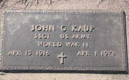 KAUP, JOHN G. (MILITARY) - Cuming County, Nebraska | JOHN G. (MILITARY) KAUP - Nebraska Gravestone Photos