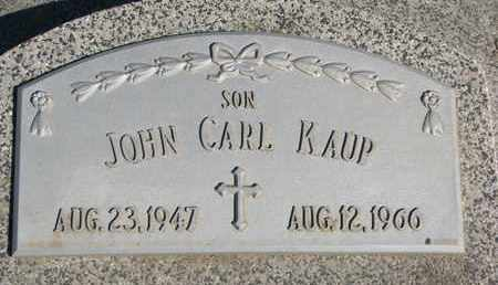 KAUP, JOHN CARL - Cuming County, Nebraska | JOHN CARL KAUP - Nebraska Gravestone Photos