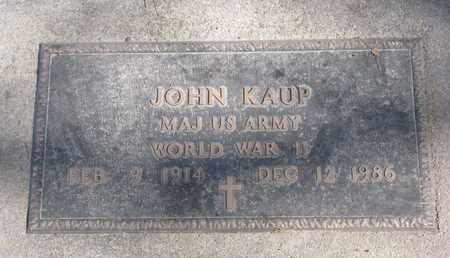 KAUP, JOHN (MILITARY) - Cuming County, Nebraska | JOHN (MILITARY) KAUP - Nebraska Gravestone Photos