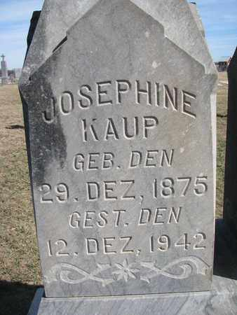 KAUP, JOSEPHINE (CLOSE UP) - Cuming County, Nebraska | JOSEPHINE (CLOSE UP) KAUP - Nebraska Gravestone Photos
