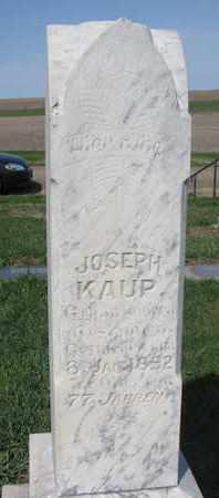 KAUP, JOSEPH - Cuming County, Nebraska   JOSEPH KAUP - Nebraska Gravestone Photos