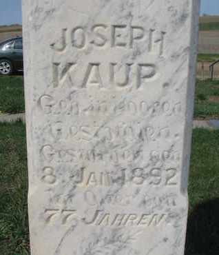 KAUP, JOSEPH (CLOSE UP) - Cuming County, Nebraska | JOSEPH (CLOSE UP) KAUP - Nebraska Gravestone Photos