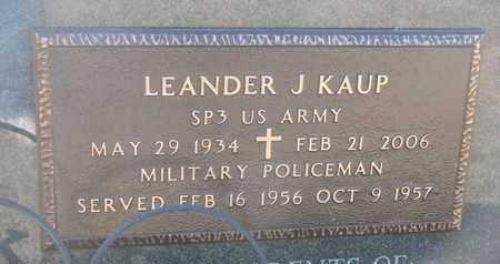 KAUP, LEANDER J. (MILITARY) - Cuming County, Nebraska   LEANDER J. (MILITARY) KAUP - Nebraska Gravestone Photos