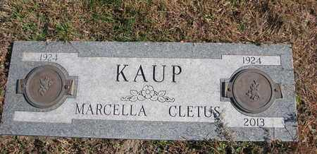 KAUP, CLETUS - Cuming County, Nebraska | CLETUS KAUP - Nebraska Gravestone Photos