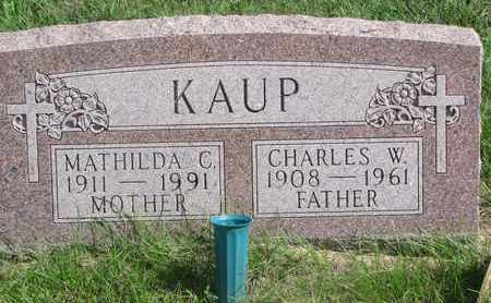 KAUP, MATHILDA C. - Cuming County, Nebraska   MATHILDA C. KAUP - Nebraska Gravestone Photos