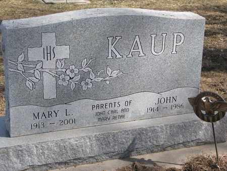 KAUP, MARY L. - Cuming County, Nebraska | MARY L. KAUP - Nebraska Gravestone Photos