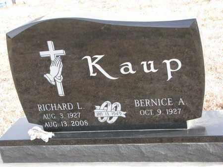 KAUP, RICHARD L. - Cuming County, Nebraska | RICHARD L. KAUP - Nebraska Gravestone Photos
