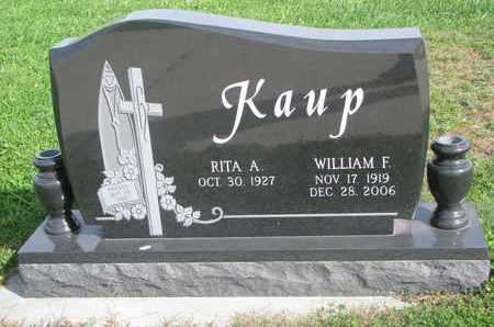 KAUP, WILLIAM F. - Cuming County, Nebraska | WILLIAM F. KAUP - Nebraska Gravestone Photos