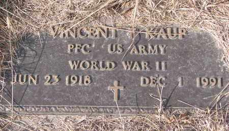 KAUP, VINCENT F. (MILITARY MARKER) - Cuming County, Nebraska | VINCENT F. (MILITARY MARKER) KAUP - Nebraska Gravestone Photos
