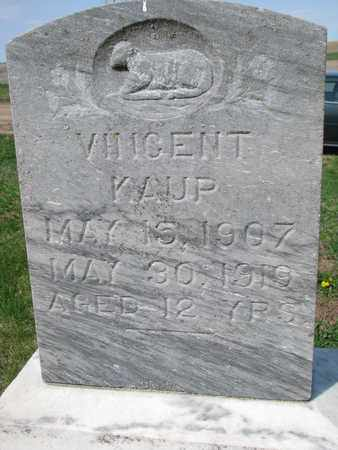 KAUP, VINCENT (CLOSE UP) - Cuming County, Nebraska | VINCENT (CLOSE UP) KAUP - Nebraska Gravestone Photos
