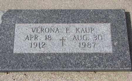 KAUP, VERONA F. - Cuming County, Nebraska | VERONA F. KAUP - Nebraska Gravestone Photos